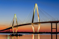 Arthur Ravenel Jr Bridge Sunset